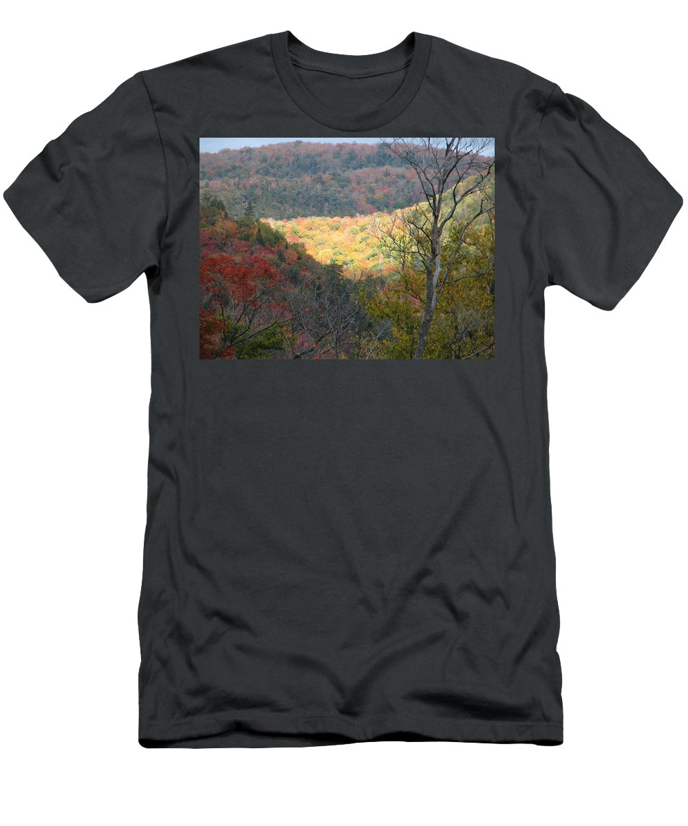 Fall Men's T-Shirt (Athletic Fit) featuring the photograph Light On The Valley by Kelly Mezzapelle