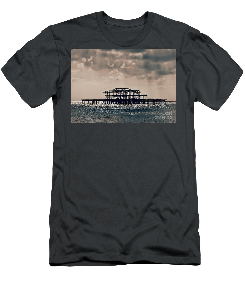 Brighton T-Shirt featuring the photograph Light Shower by Jasna Buncic