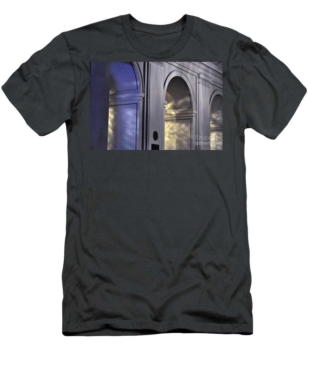 Clay Men's T-Shirt (Athletic Fit) featuring the photograph Light Splattered Arches by Clayton Bruster