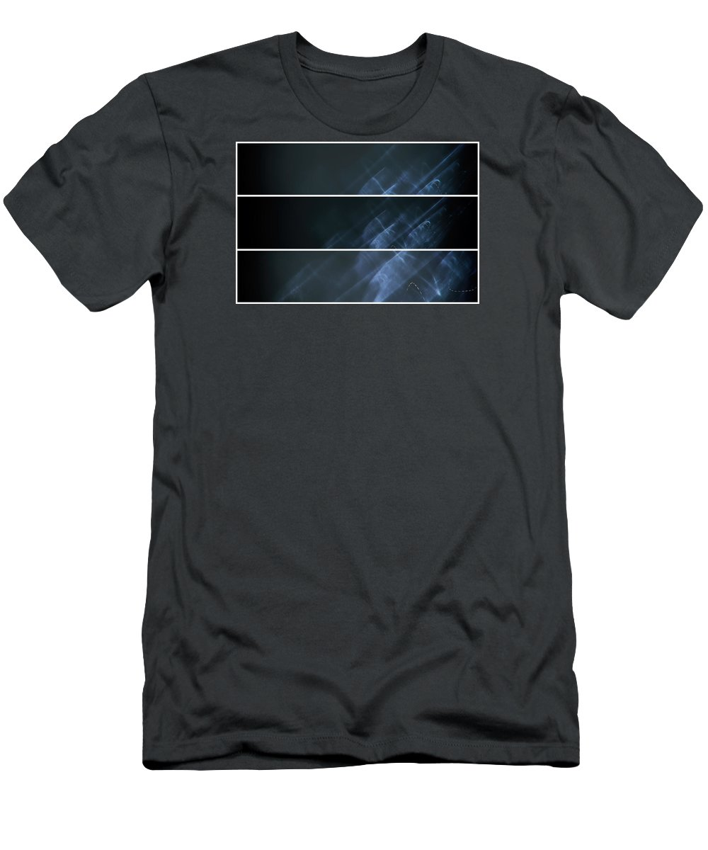 Long Exposure Men's T-Shirt (Athletic Fit) featuring the photograph Ghost Smoke by John Williams