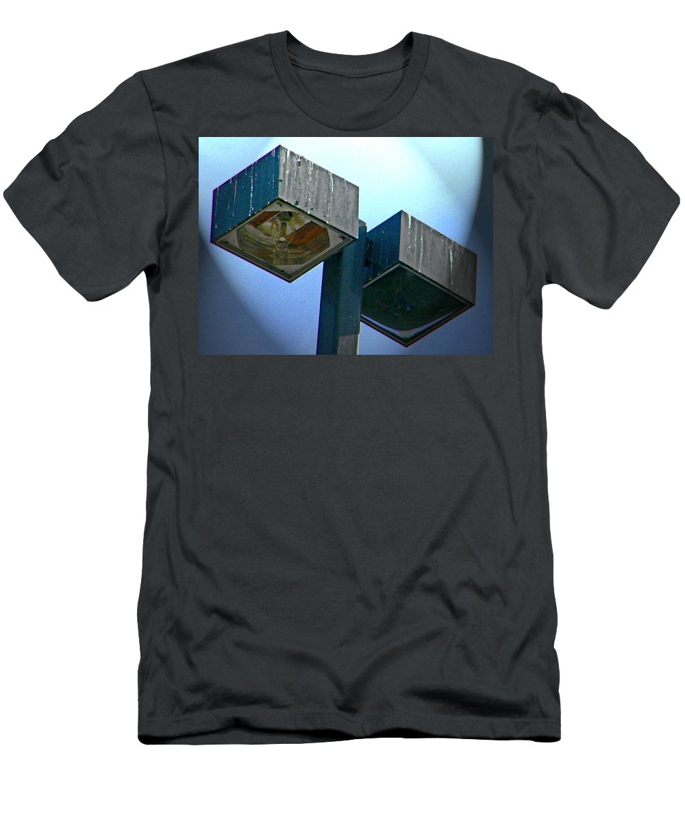 Abstract Men's T-Shirt (Athletic Fit) featuring the digital art Lights At The Parking Lot by Lenore Senior