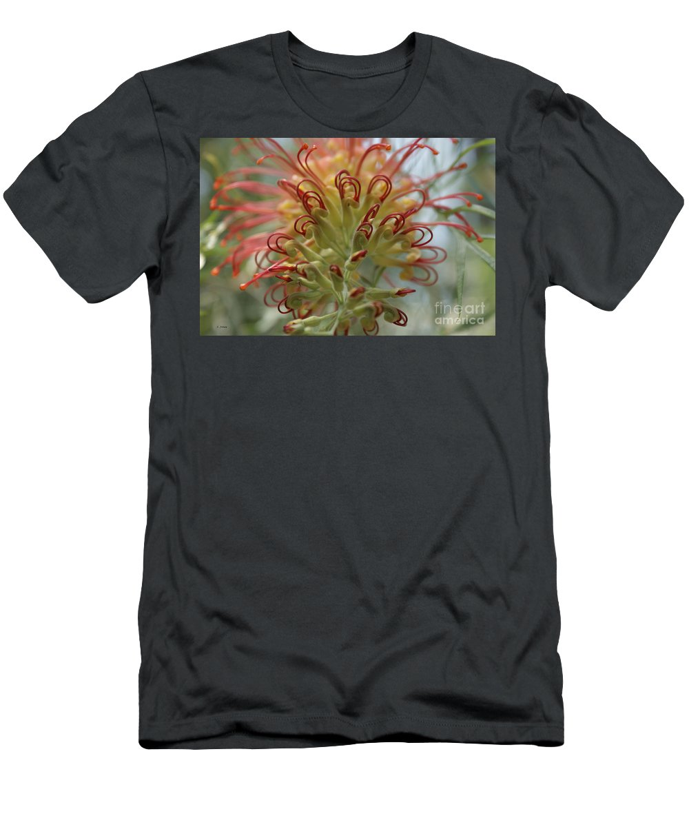 Floral Men's T-Shirt (Athletic Fit) featuring the photograph Like Stems Of A Cherry by Shelley Jones