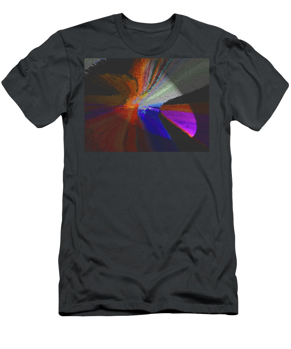 Abstract Men's T-Shirt (Athletic Fit) featuring the digital art Like Wings Of Dawn by Lenore Senior