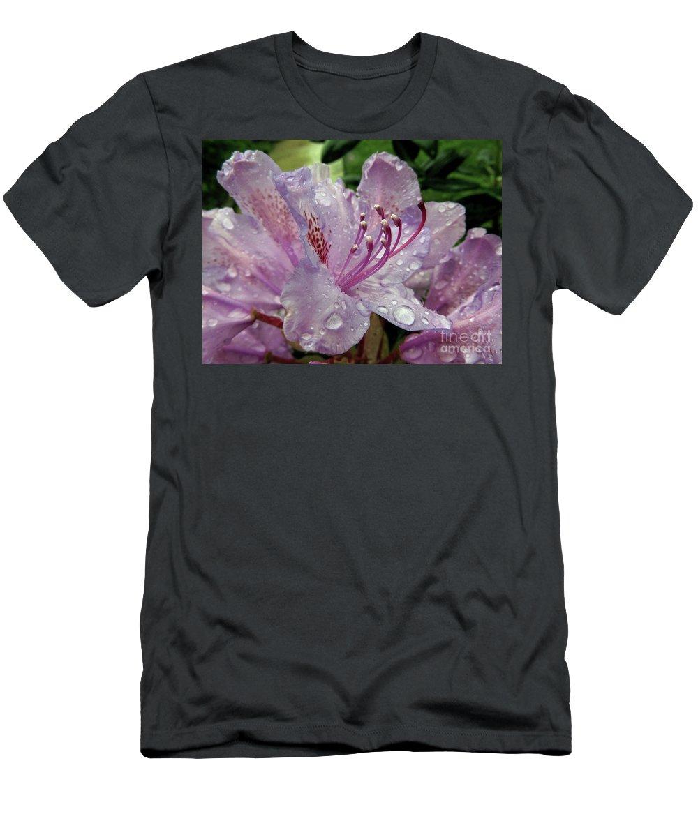 Azalea Men's T-Shirt (Athletic Fit) featuring the photograph Lilac Azalea by Kim Tran