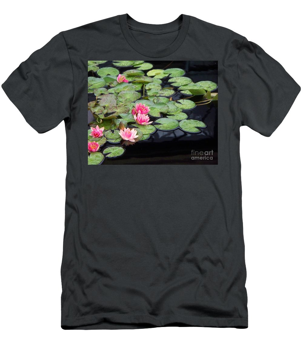 Photograph Men's T-Shirt (Athletic Fit) featuring the painting Lily Pond Monet by Eric Schiabor