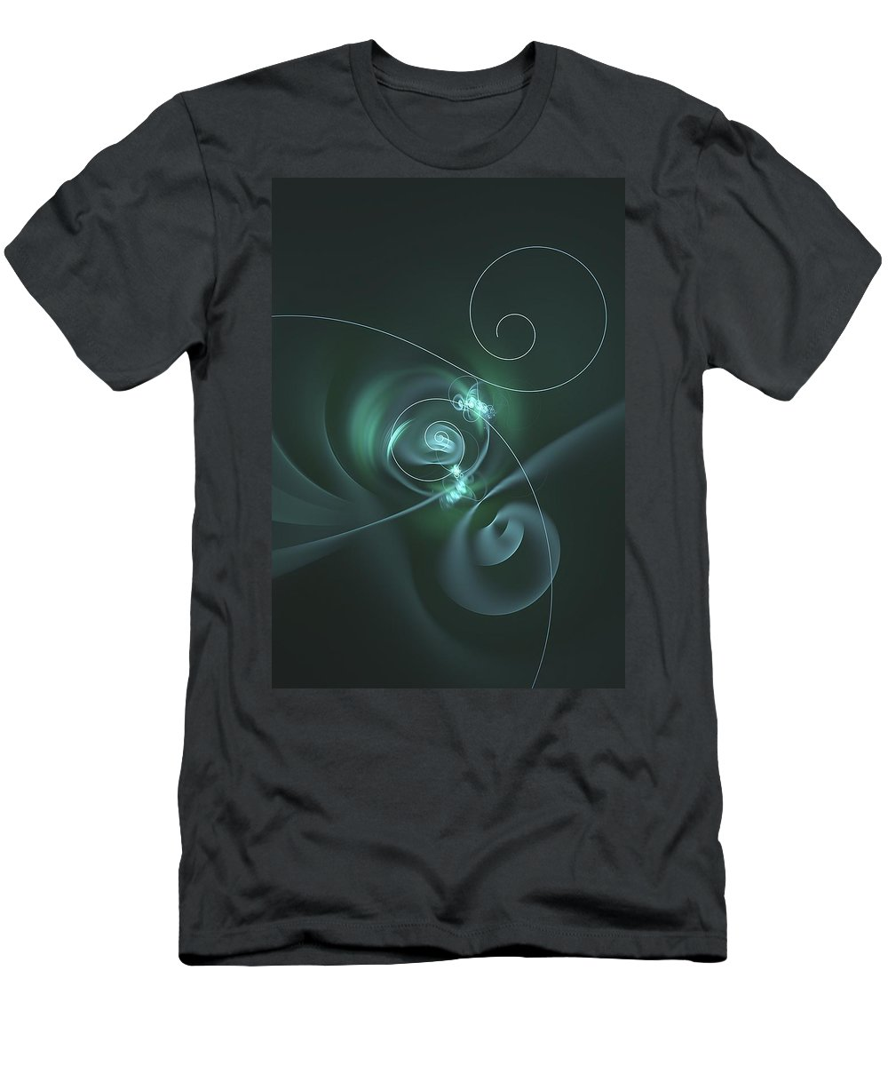 Grassy Men's T-Shirt (Athletic Fit) featuring the digital art Lime Petals by John Pirillo