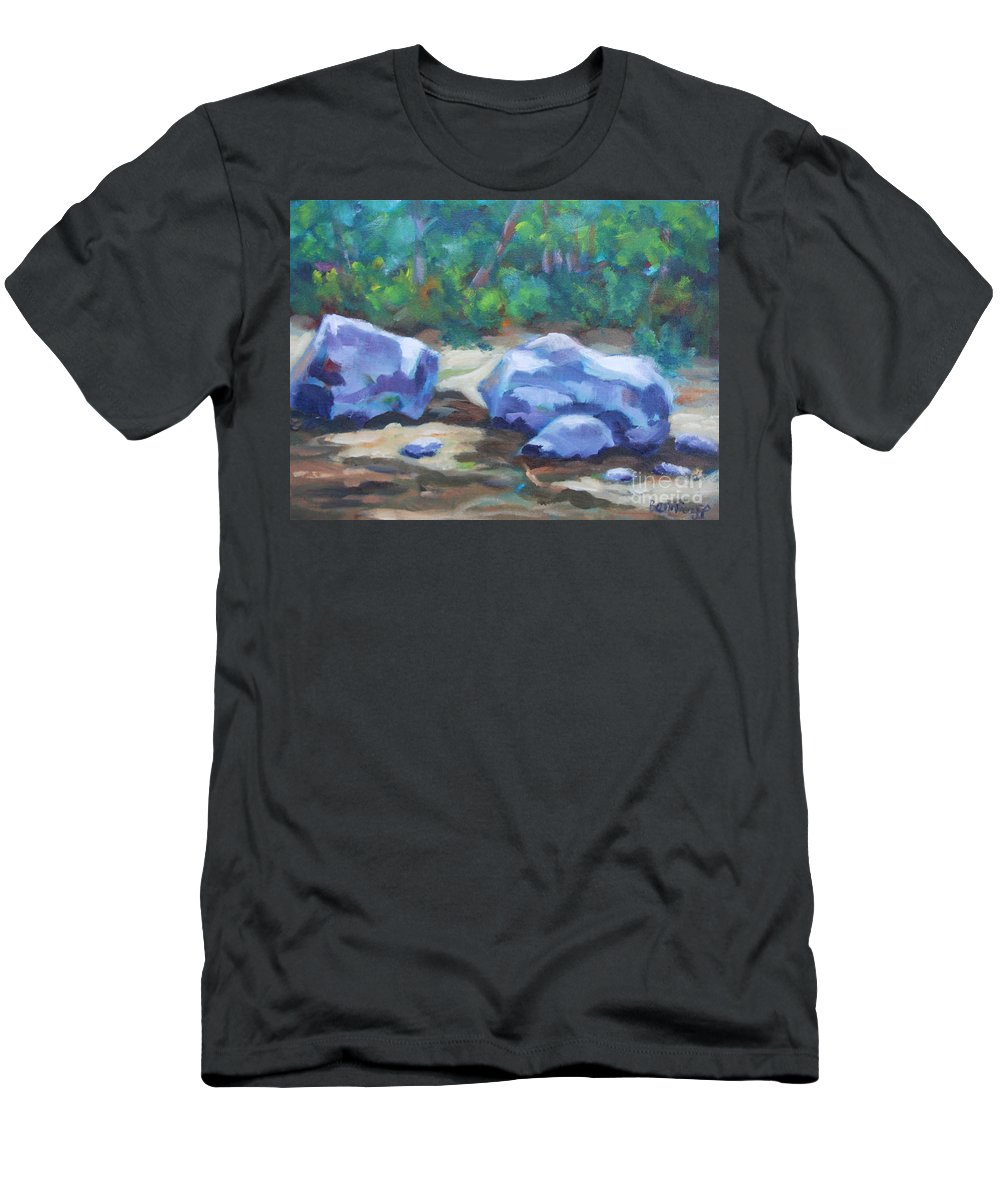 Expressionist Landscape Men's T-Shirt (Athletic Fit) featuring the painting Lindenlure by Jan Bennicoff