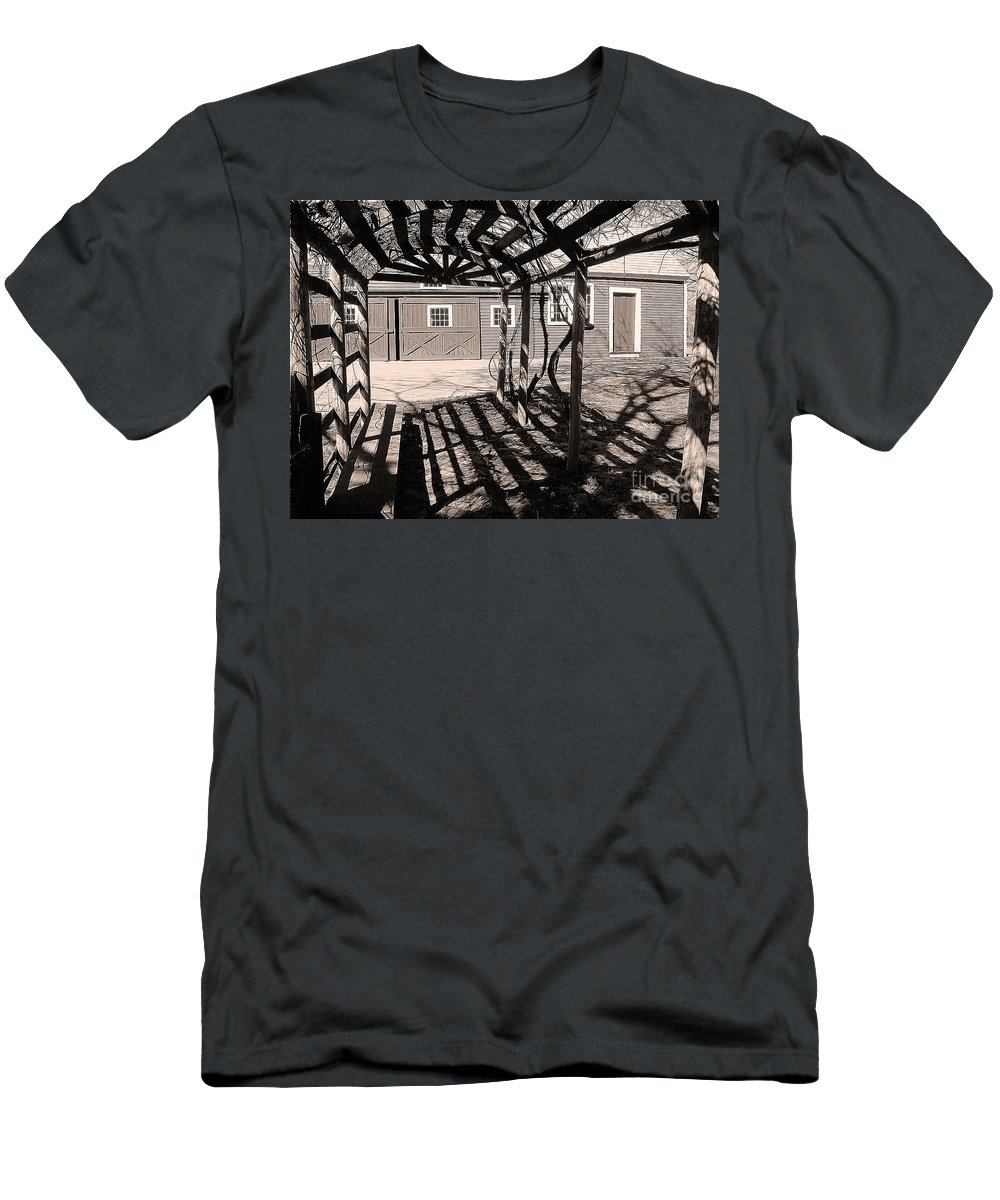 Monochrome Men's T-Shirt (Athletic Fit) featuring the photograph Linear View by Betsy Zimmerli
