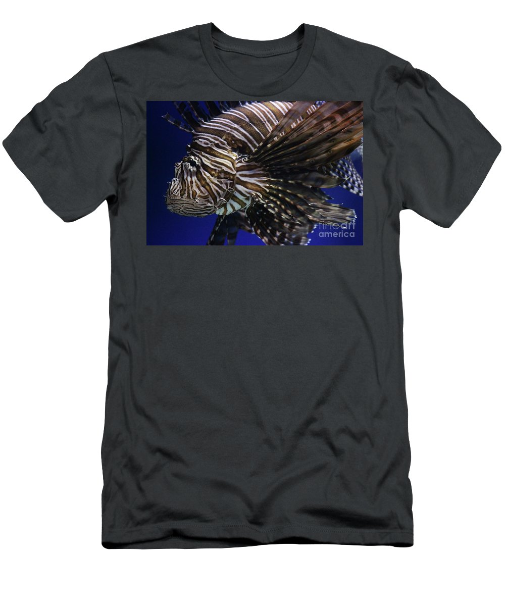 Sea Men's T-Shirt (Athletic Fit) featuring the photograph Lionfish by Paulette Thomas