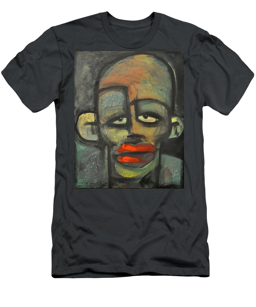 Lipstick Men's T-Shirt (Athletic Fit) featuring the painting Lipstick by Tim Nyberg