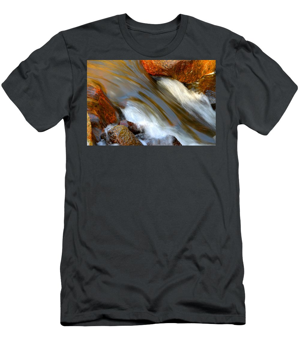 Spring Men's T-Shirt (Athletic Fit) featuring the photograph Liquid Gold by Dianne Cowen