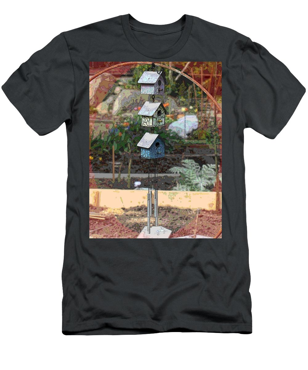Garden Men's T-Shirt (Athletic Fit) featuring the digital art Little Birdie Condo by Tim Allen