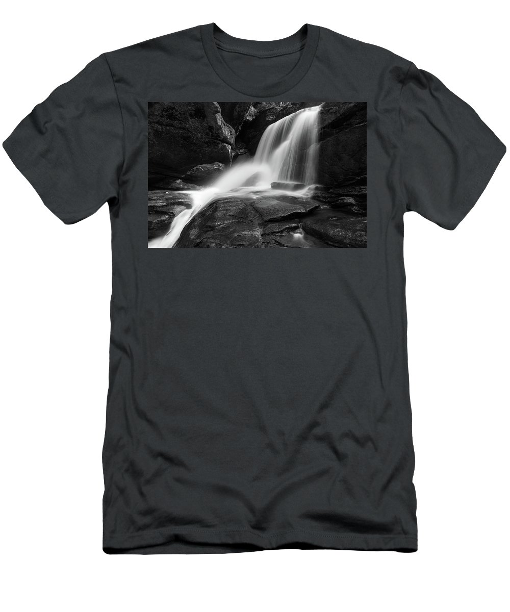 Waterfall Men's T-Shirt (Athletic Fit) featuring the photograph Little Bradley Falls #2 by Dan Farmer