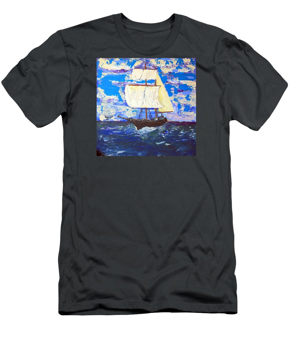 Clipper Men's T-Shirt (Athletic Fit) featuring the painting Little Clipper by J R Seymour