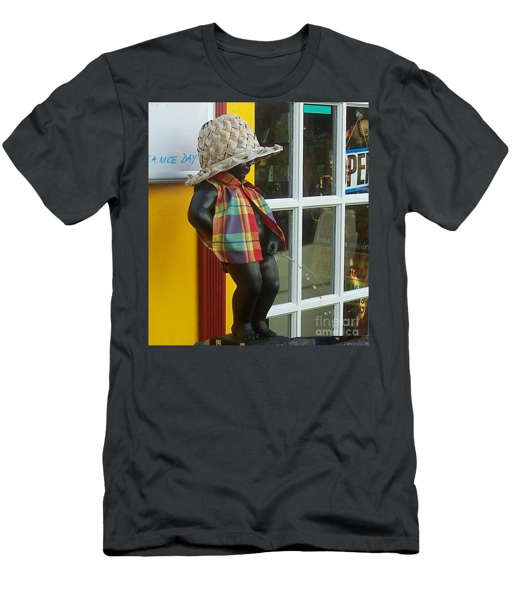 Fountain Men's T-Shirt (Athletic Fit) featuring the photograph Little Wiz by Debbi Granruth