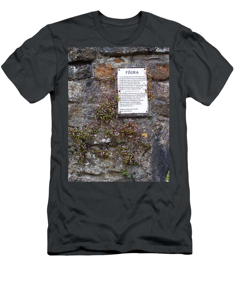 Irish Men's T-Shirt (Athletic Fit) featuring the photograph Living Wall At Donegal Castle Ireland by Teresa Mucha
