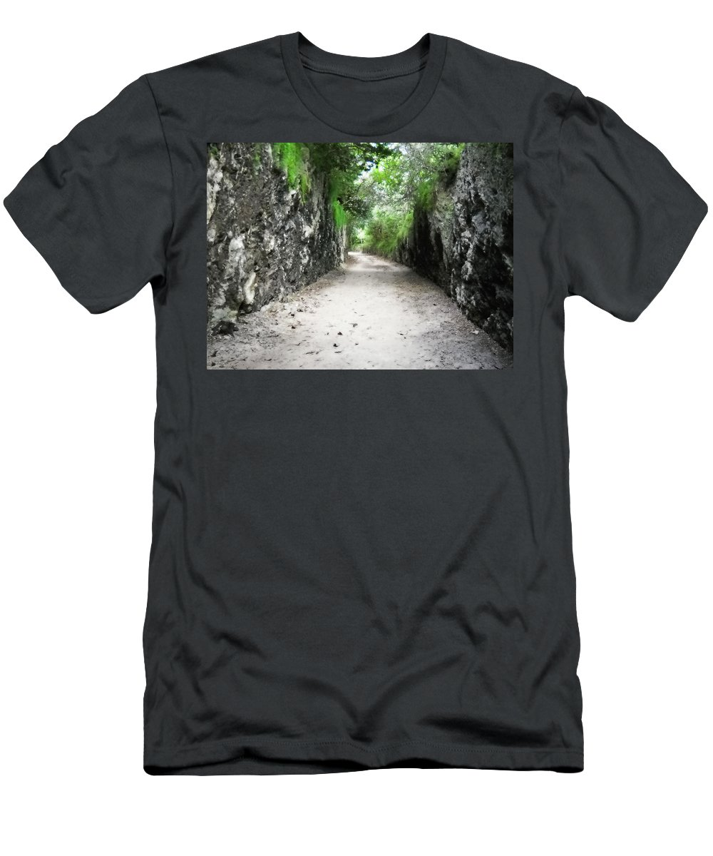 Bermuda Men's T-Shirt (Athletic Fit) featuring the photograph Living Walls by Julia Raddatz