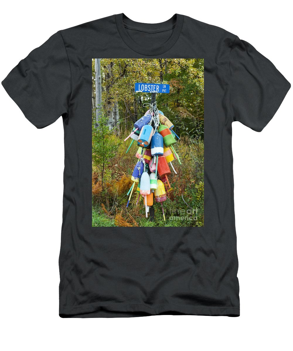 Lobster Lane Men's T-Shirt (Athletic Fit) featuring the photograph Lobster Lane by John Greim