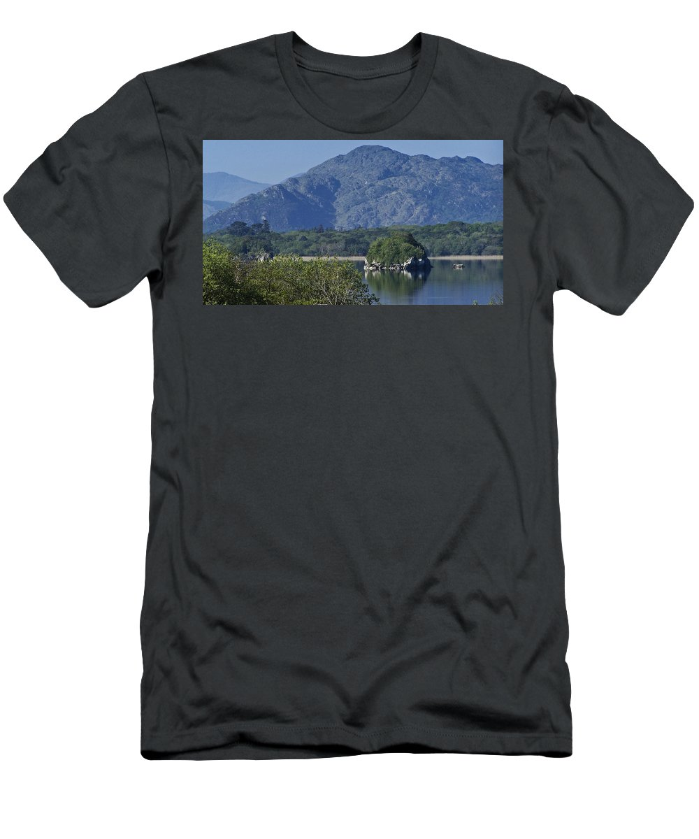 Irish Men's T-Shirt (Athletic Fit) featuring the photograph Loch Leanne Killarney Ireland by Teresa Mucha