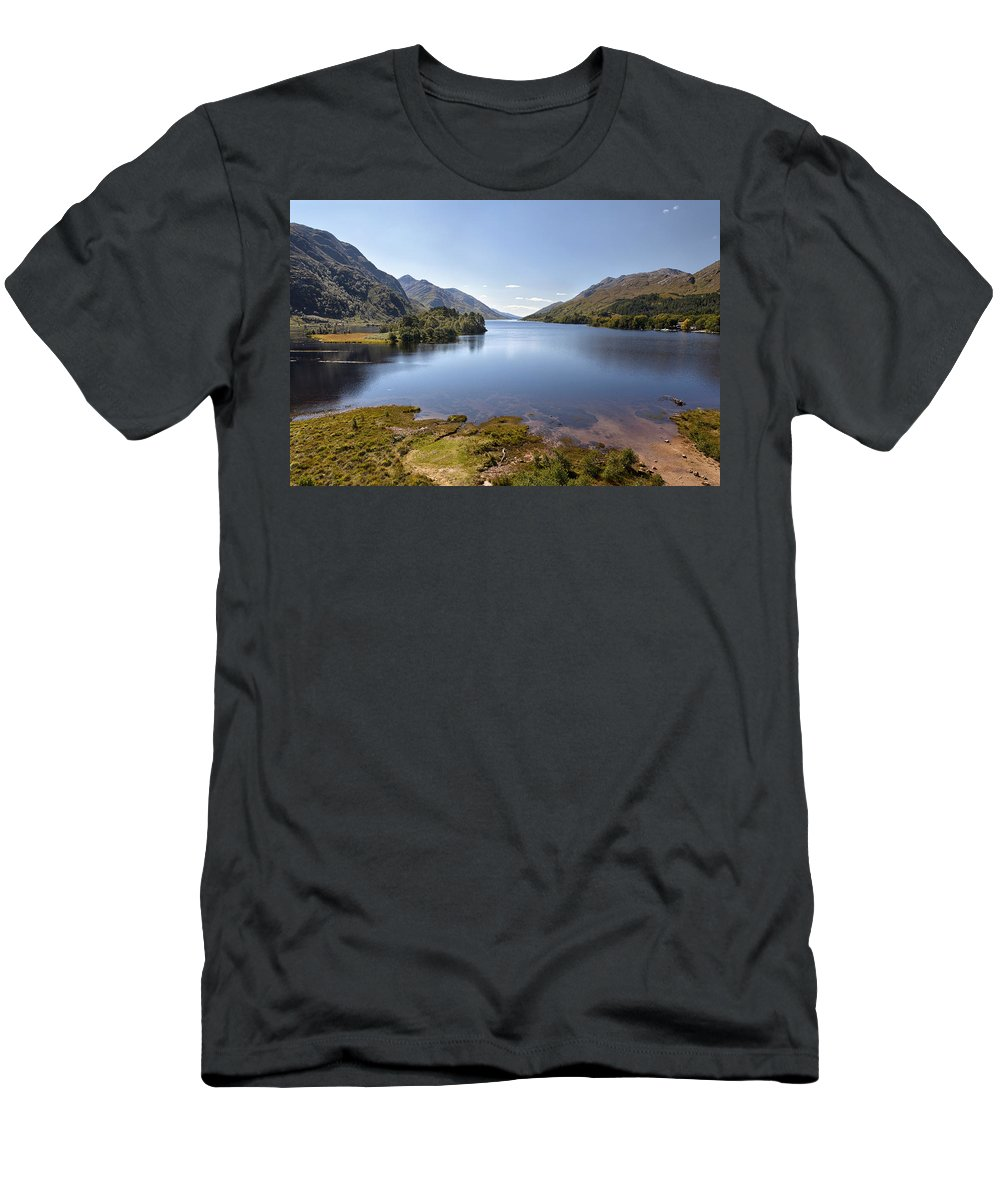 Loch Men's T-Shirt (Athletic Fit) featuring the photograph Loch Shiel by Eunice Gibb