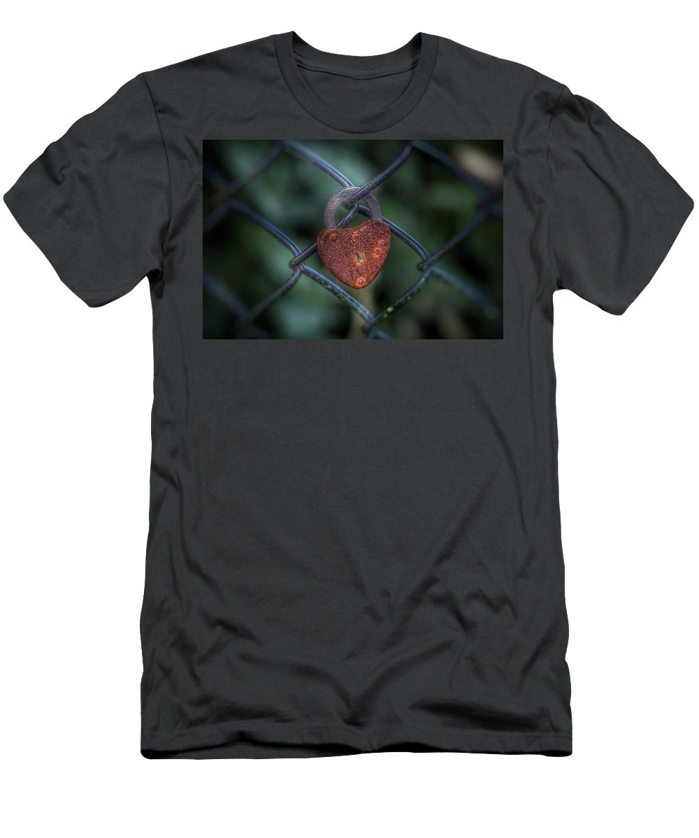Men's T-Shirt (Athletic Fit) featuring the photograph Lock Of Love by James Caine