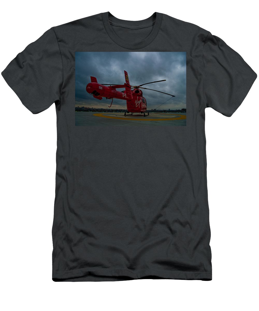 Air Ambulance Men's T-Shirt (Athletic Fit) featuring the photograph London Air Ambulance by Dawn OConnor
