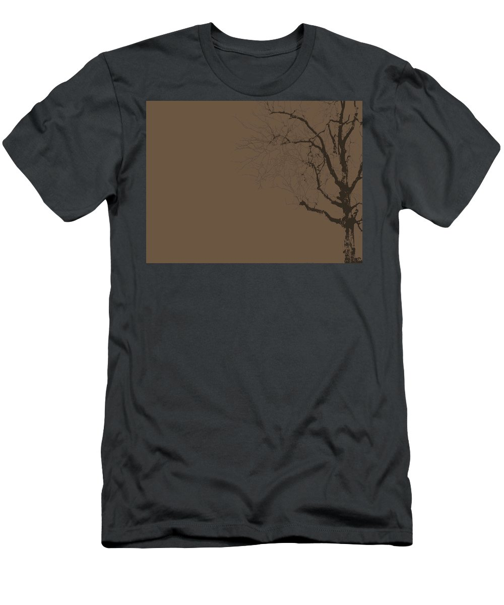 Tree Men's T-Shirt (Athletic Fit) featuring the photograph Loneliness by Ed Smith