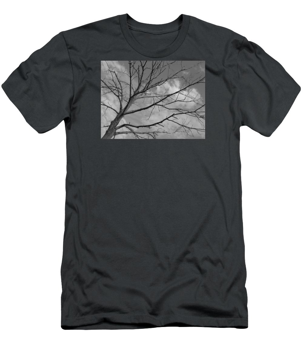 Black And White Men's T-Shirt (Athletic Fit) featuring the photograph Lonely Tree by Doug Hansen