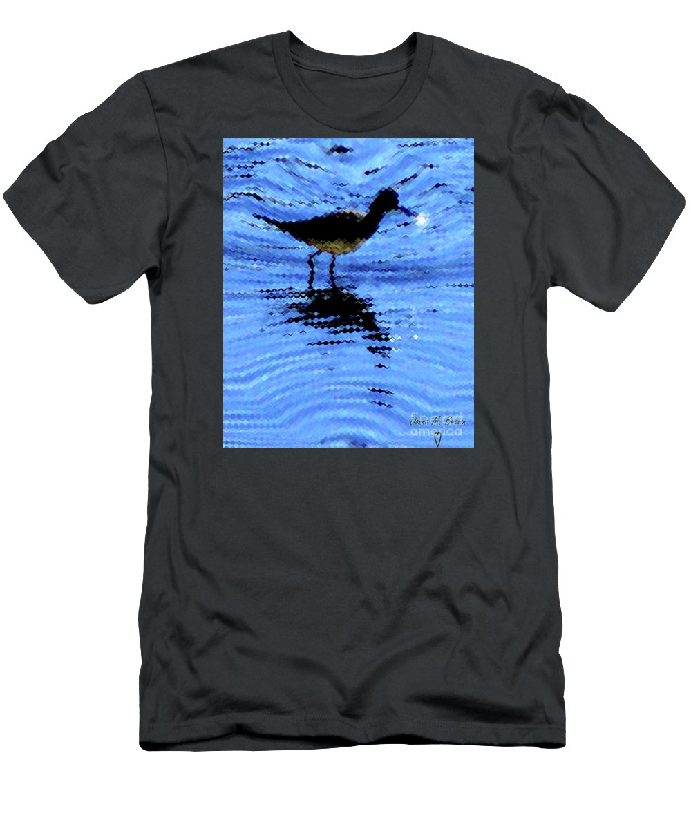 Bird Men's T-Shirt (Athletic Fit) featuring the photograph Long-billed Diwitcher by Donna Brown