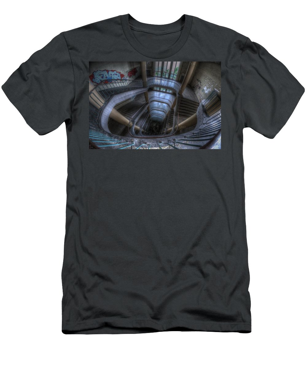 High Men's T-Shirt (Athletic Fit) featuring the photograph Long Way Down by Nathan Wright