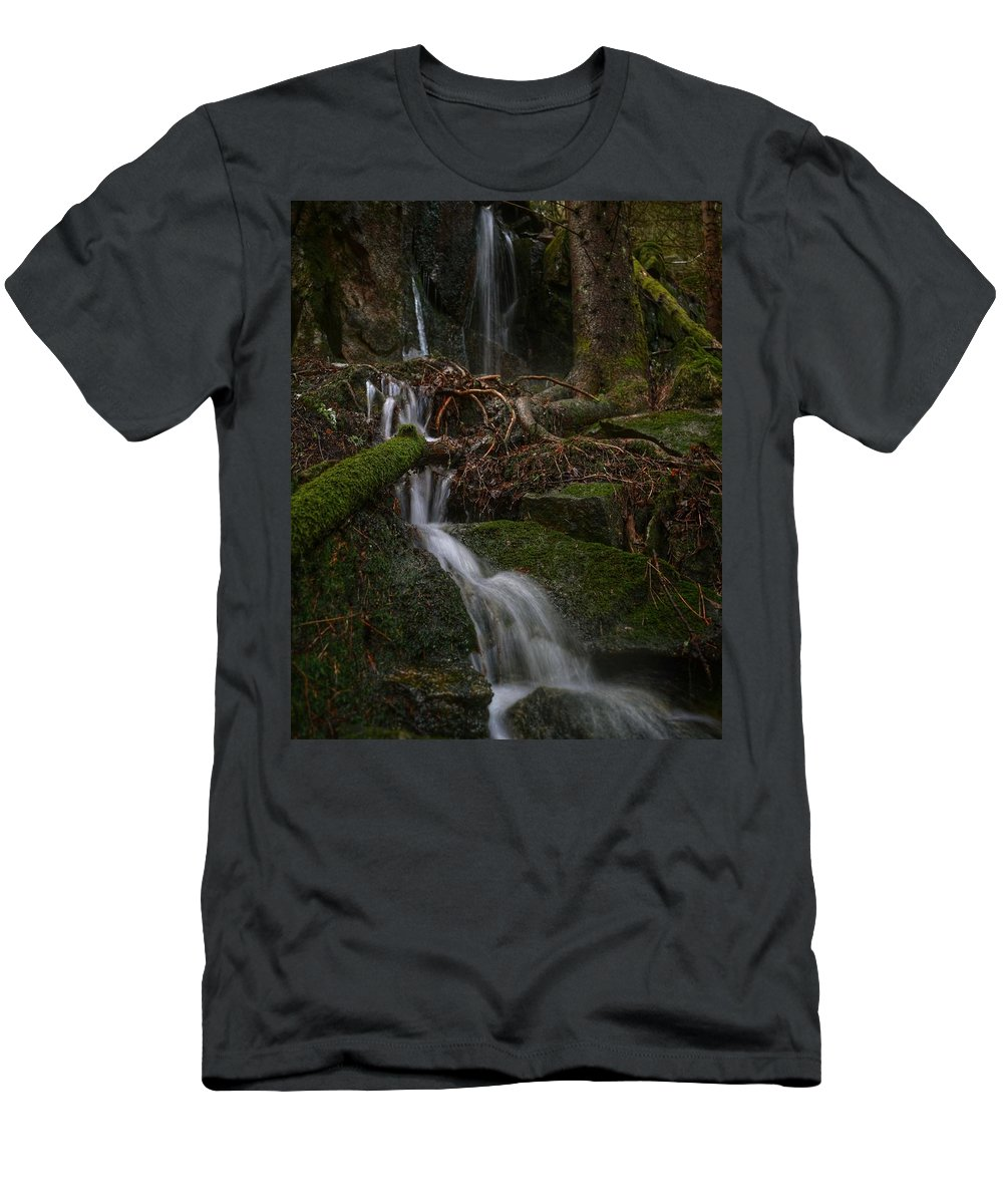 Water Men's T-Shirt (Athletic Fit) featuring the photograph Longexposure Water by Per Martin Kristiansen
