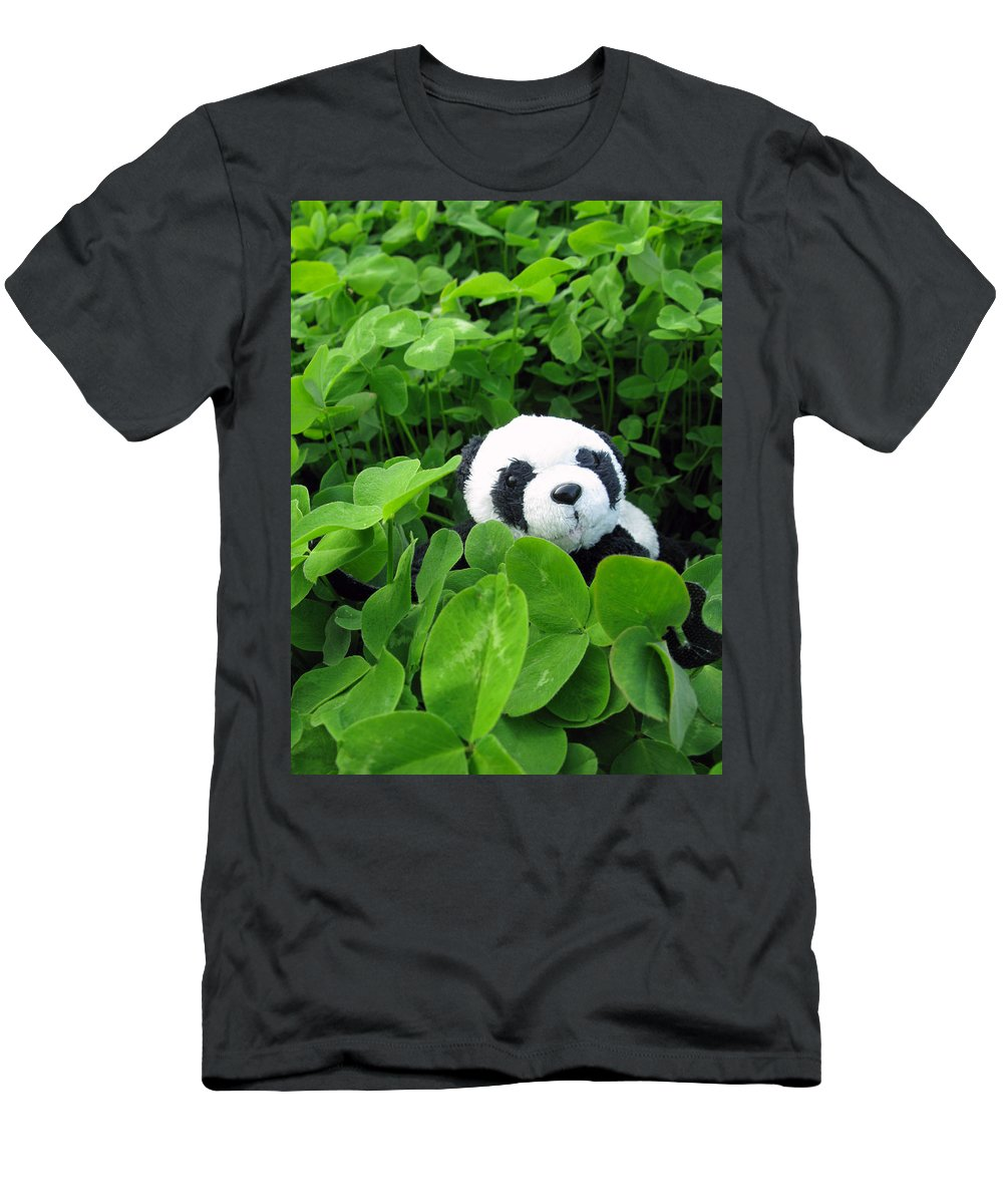 Shamrock Men's T-Shirt (Athletic Fit) featuring the photograph Looking For A Lucky Clover by Ausra Huntington nee Paulauskaite