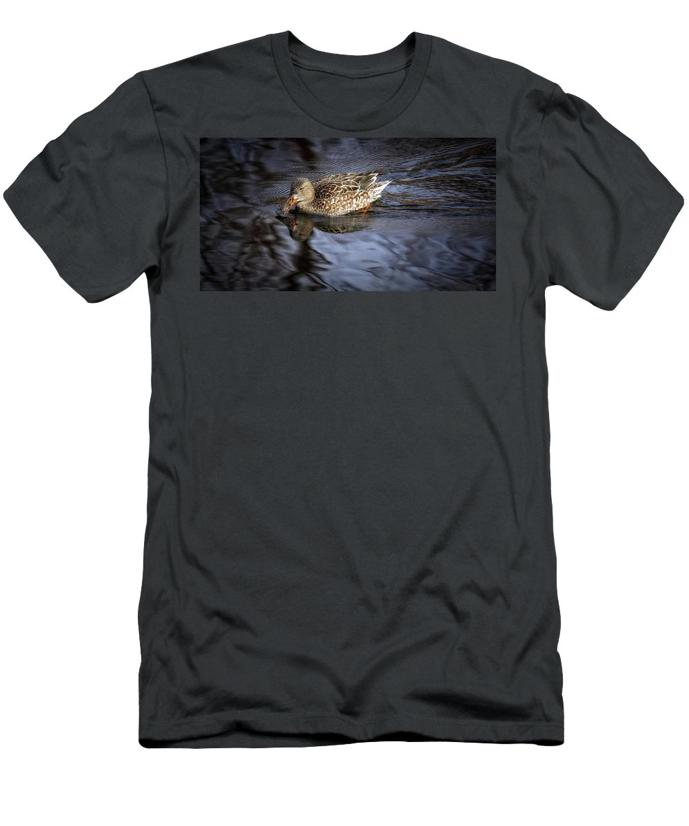 Ducks Men's T-Shirt (Athletic Fit) featuring the photograph Looking Glass by Elaine Malott