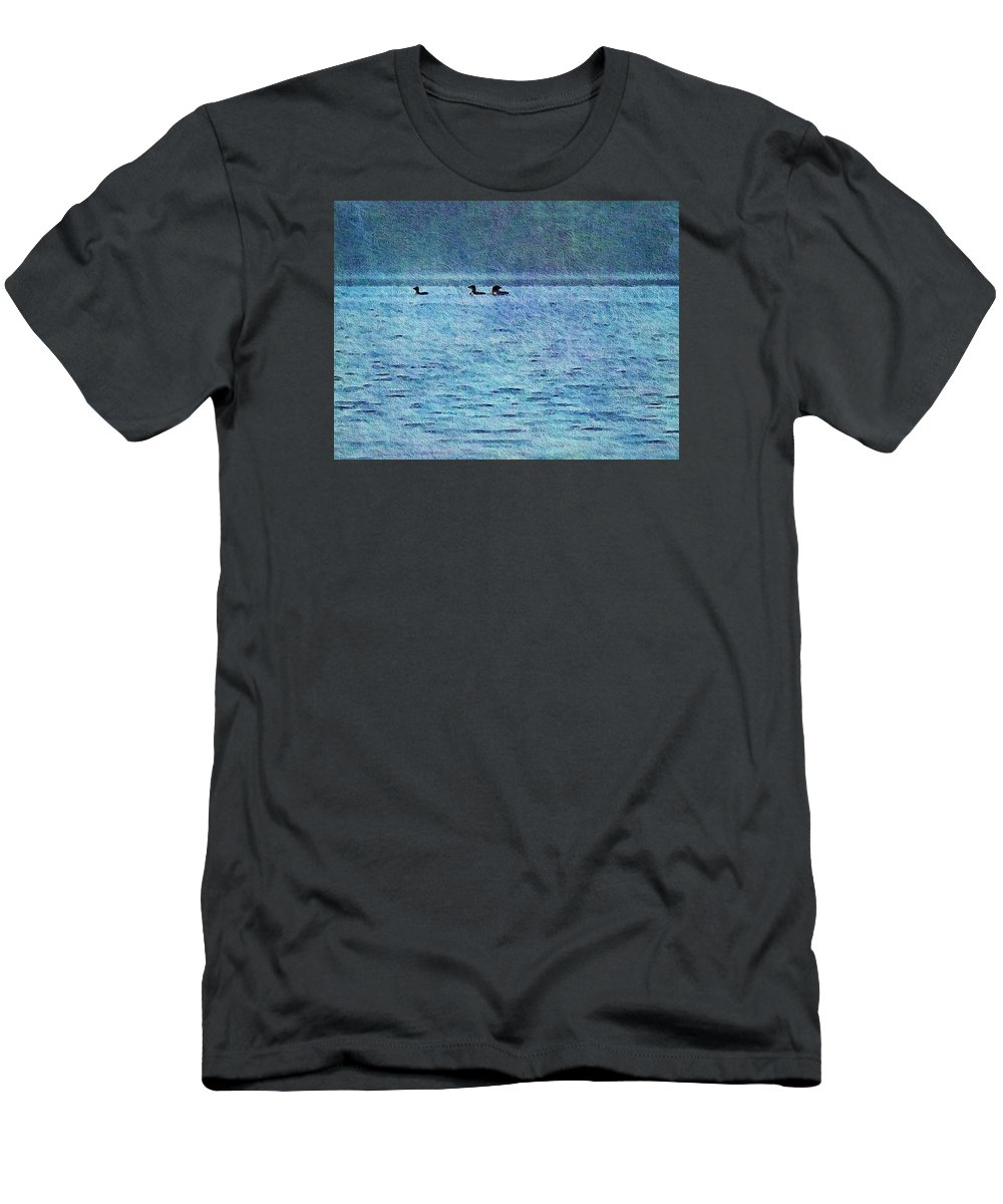 Olson T-Shirt featuring the photograph Loons On The Lake by Joy Nichols