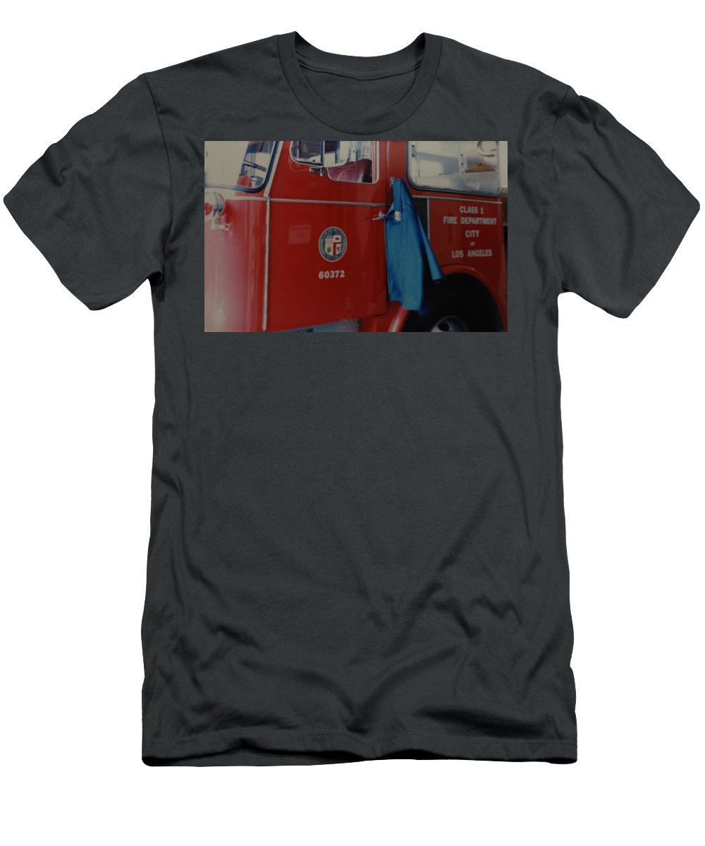 Los Angeles Fire Department Men's T-Shirt (Athletic Fit) featuring the photograph Los Angeles Fire Department by Rob Hans