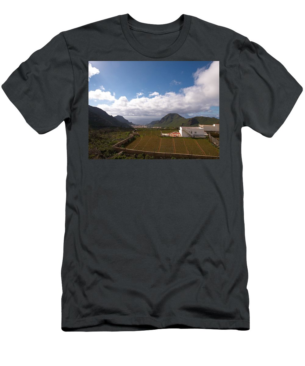 Landscape Men's T-Shirt (Athletic Fit) featuring the photograph Los Gigantes by Jouko Lehto