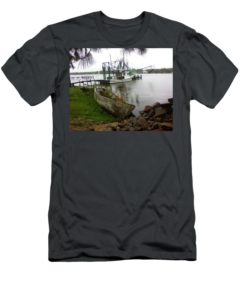 Boat T-Shirt featuring the photograph Lost Boat by Patricia Caldwell