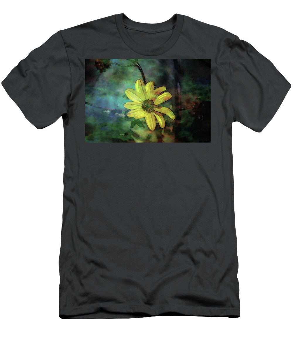 Lost Men's T-Shirt (Athletic Fit) featuring the photograph Lost Wild Flower In The Shadows 5771 Ldp_2 by Steven Ward