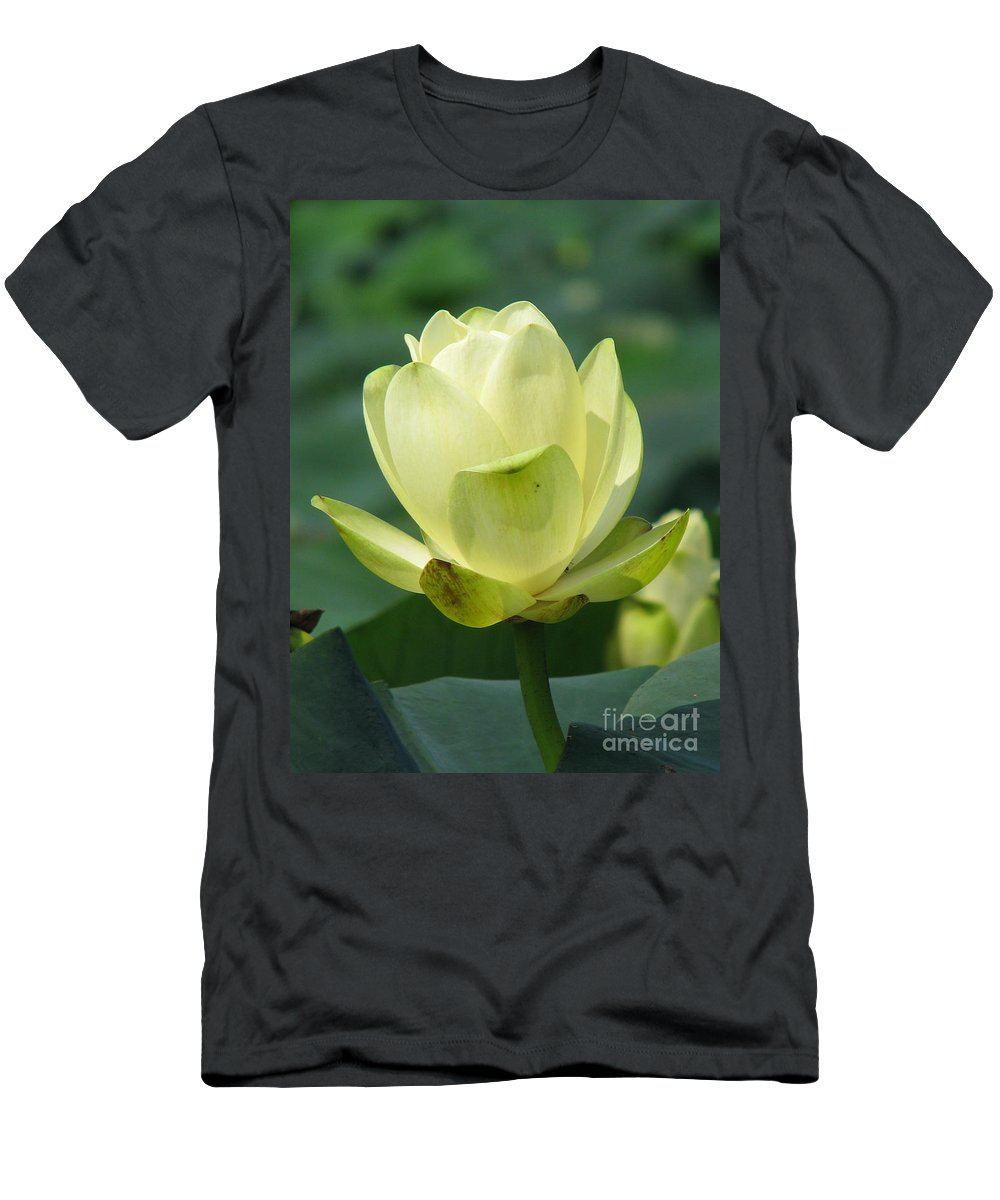 Lotus Men's T-Shirt (Athletic Fit) featuring the photograph Lotus by Amanda Barcon