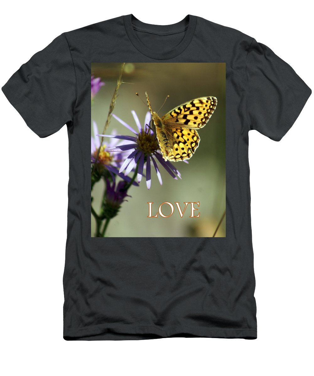 Love Men's T-Shirt (Athletic Fit) featuring the greeting card Love 1 by Marty Koch