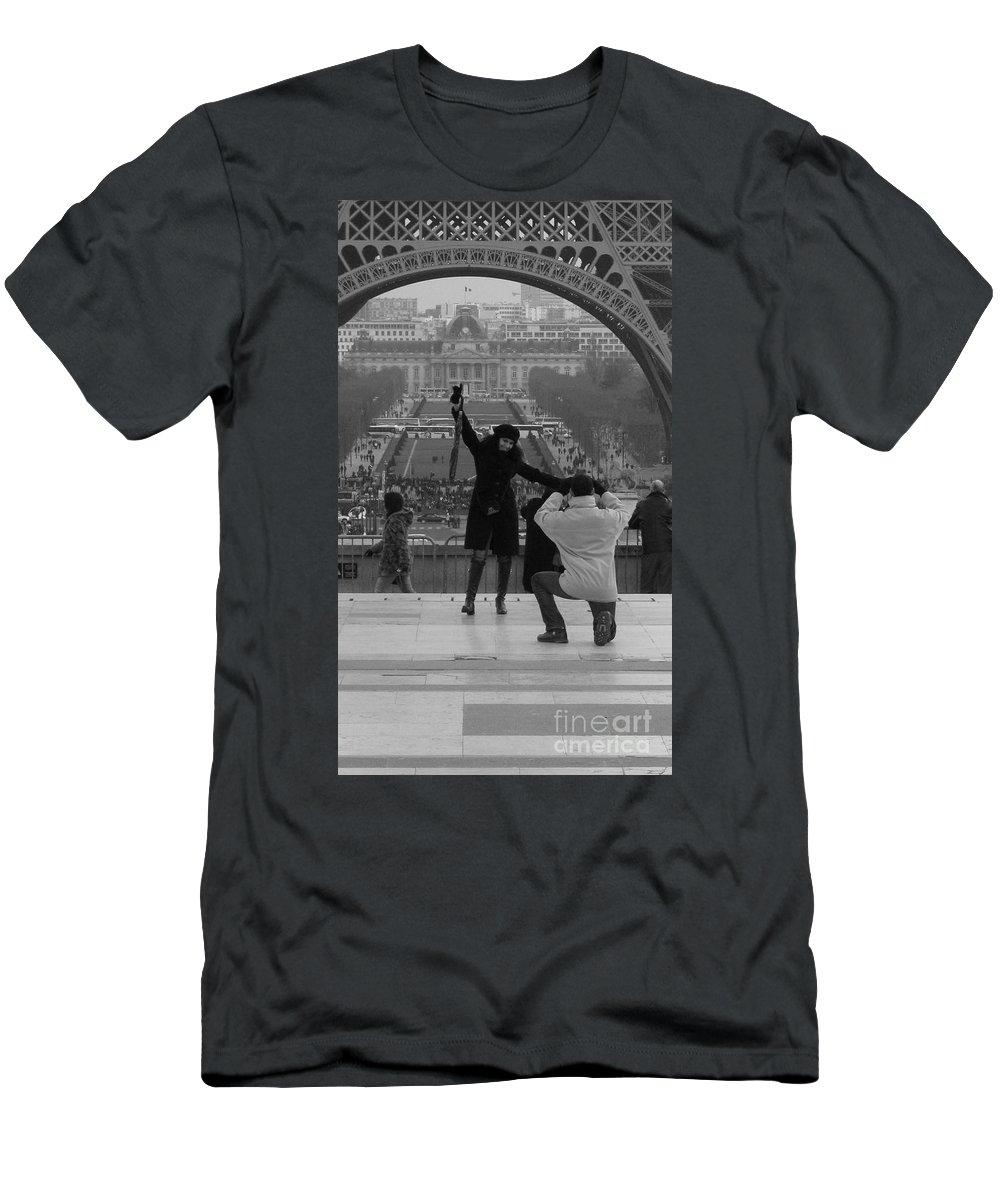 Paris Men's T-Shirt (Athletic Fit) featuring the photograph Love by Jo Hoden