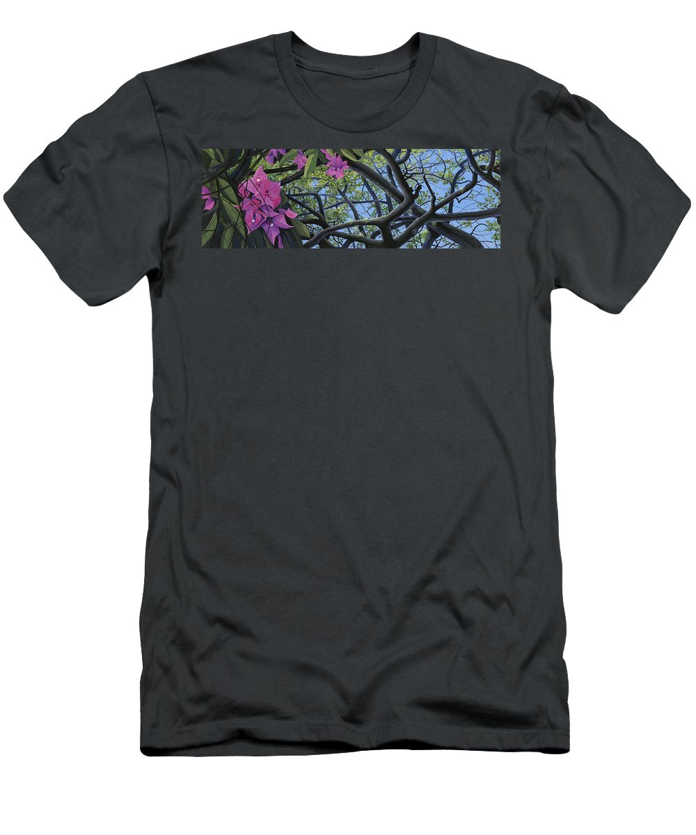 Bougainvillea T-Shirt featuring the painting Love Voodoo by Hunter Jay