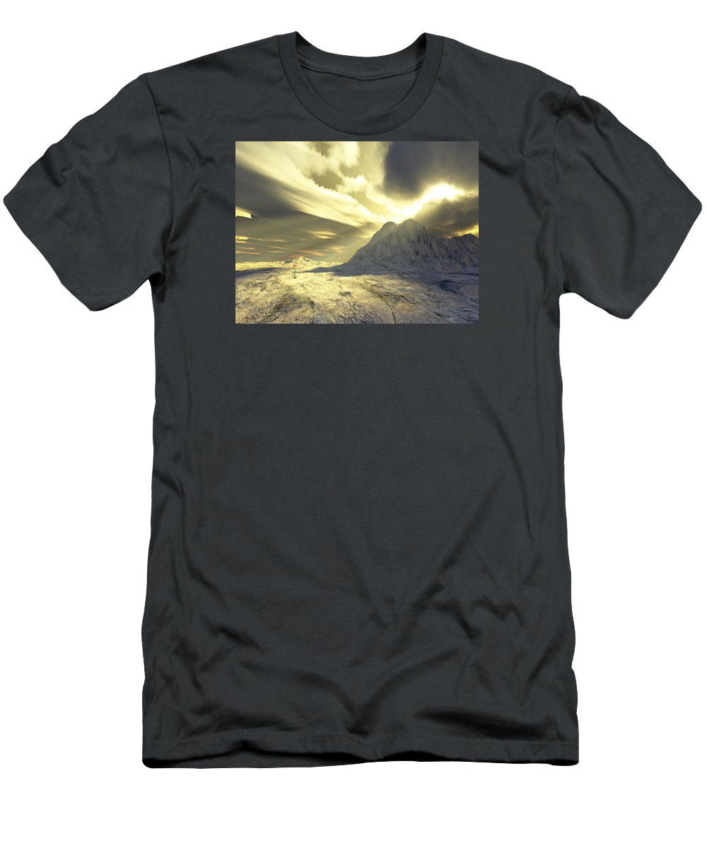 Loved Men's T-Shirt (Athletic Fit) featuring the digital art Loved - Never Forgotten by Jennifer Kathleen Phillips