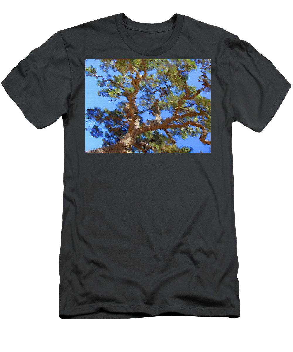 Oak Men's T-Shirt (Athletic Fit) featuring the digital art Lovely As A Tree by Donna Blackhall