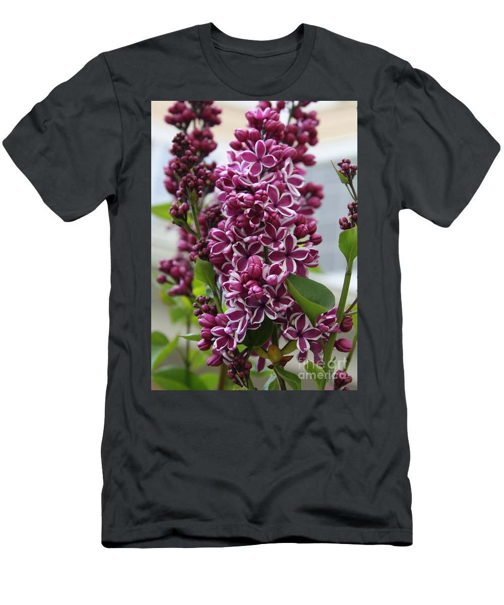 Lilacs Men's T-Shirt (Athletic Fit) featuring the photograph Lovely Lilacs by Carol Groenen