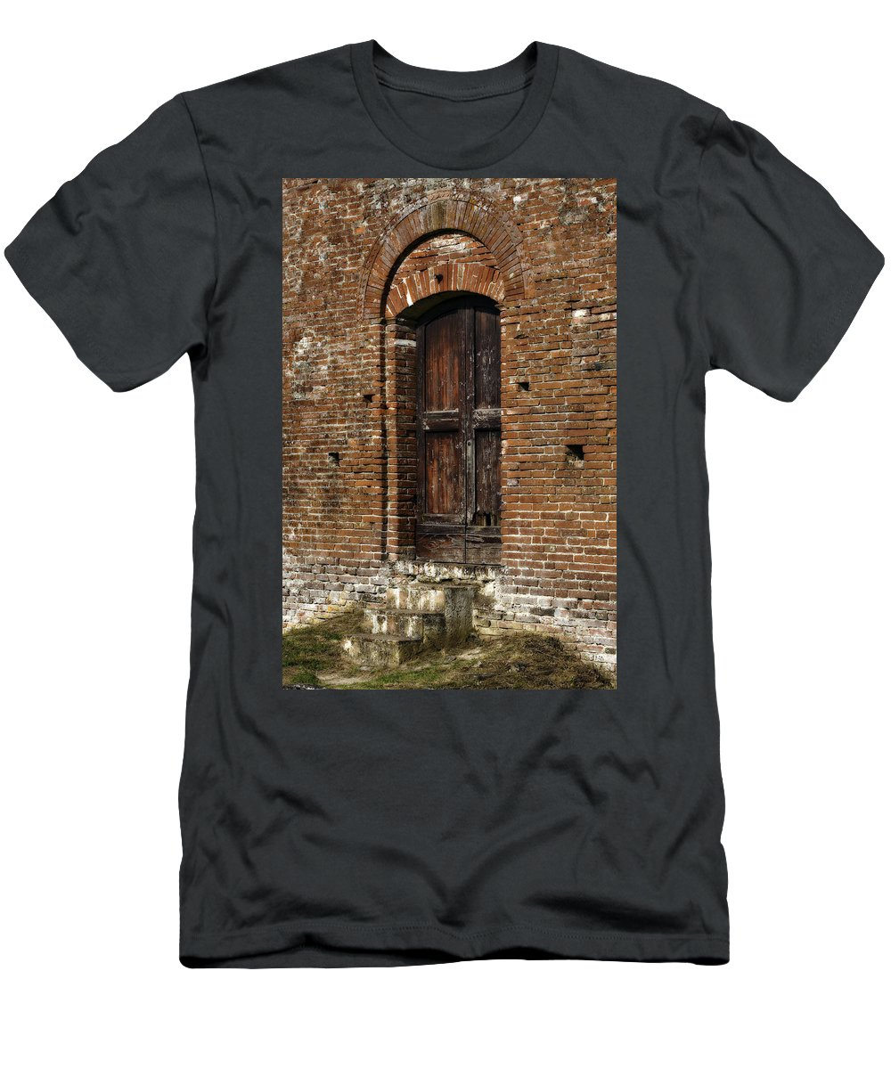 Door Men's T-Shirt (Athletic Fit) featuring the photograph Lovely Old Door by Marilyn Hunt