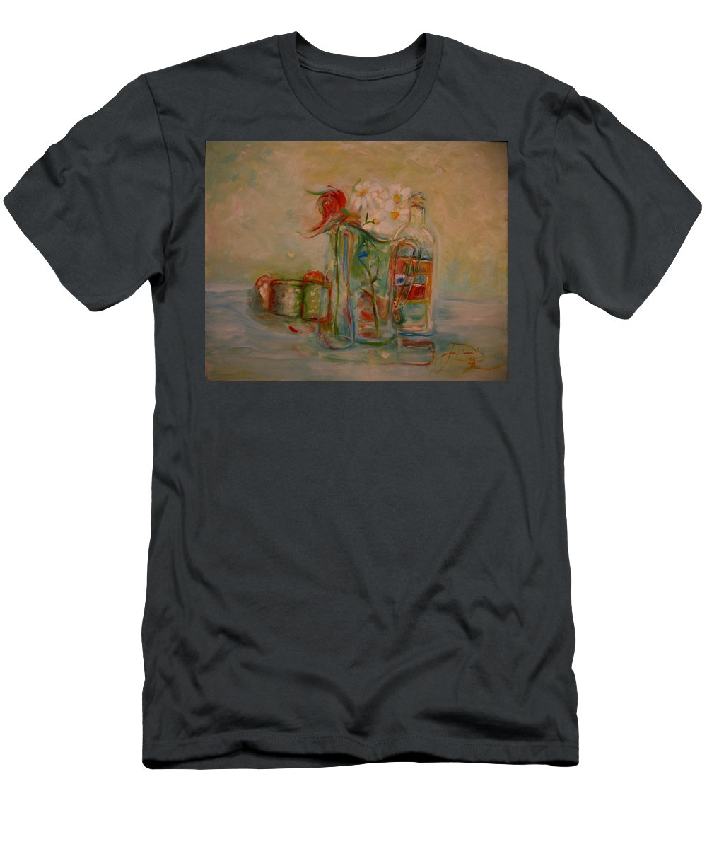 Rose T-Shirt featuring the painting Lovers Picnic by Jack Diamond