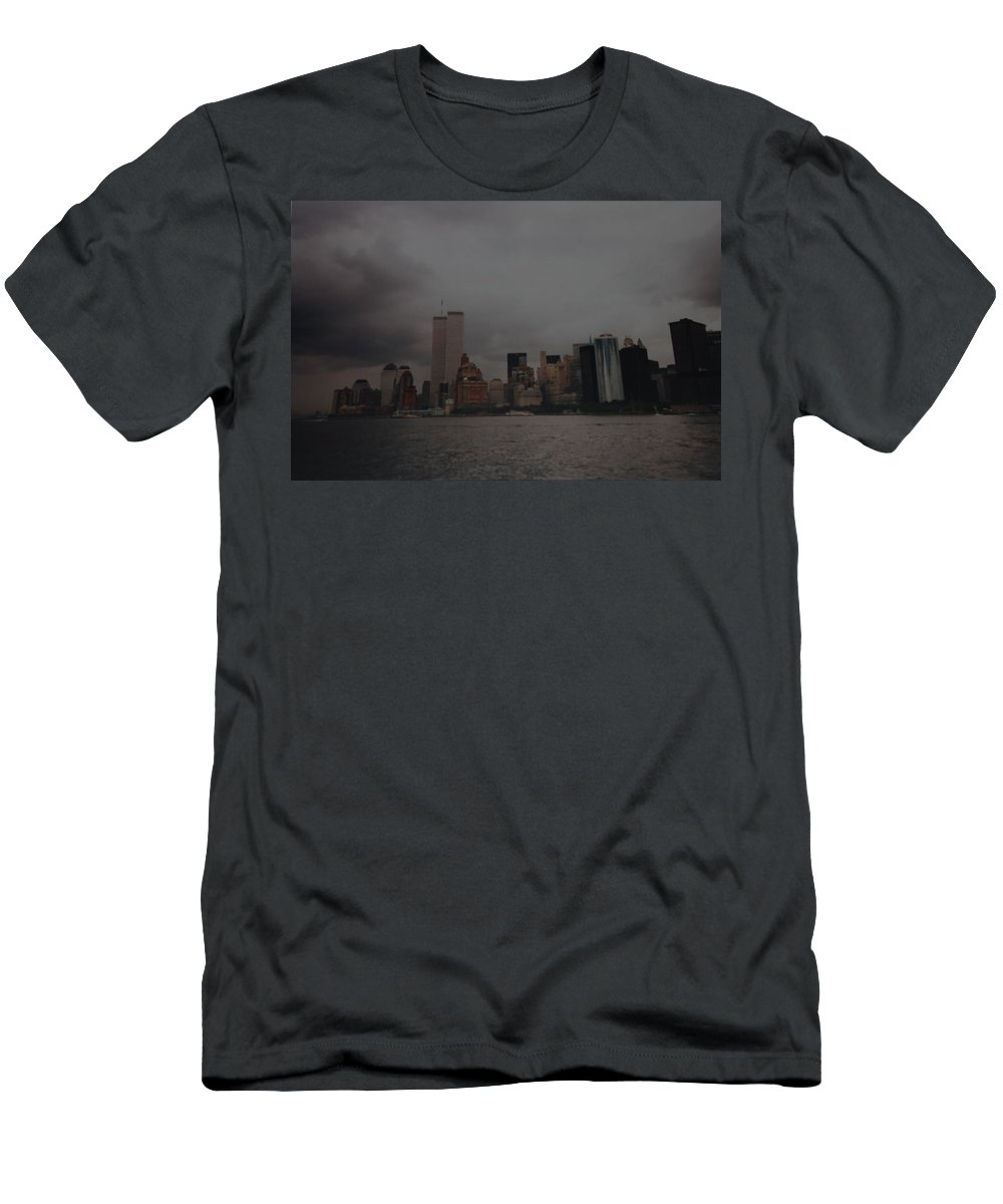 Wtc Men's T-Shirt (Athletic Fit) featuring the photograph Lower Manhattan by Rob Hans