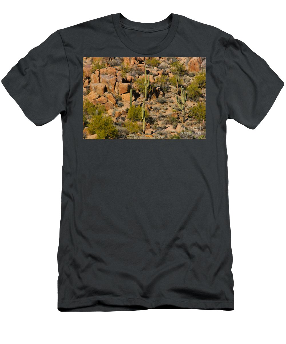 Arizona Men's T-Shirt (Athletic Fit) featuring the photograph Lush Arizona Desert Landscape by James BO Insogna