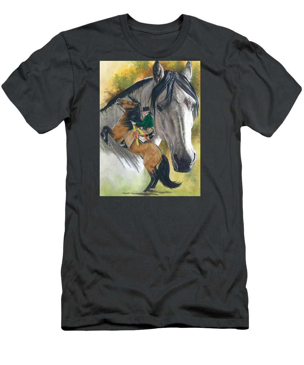Hoof Stock T-Shirt featuring the mixed media Lusitano by Barbara Keith